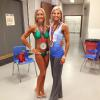 London 2015 Figure Masters Silver Medalist. Pam (in the green bikini) from Mindful Life studio is the Masters Bikini Silver medalist